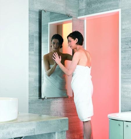 radiateur electrique miroir chauffage par rayonnement infra rouge. Black Bedroom Furniture Sets. Home Design Ideas